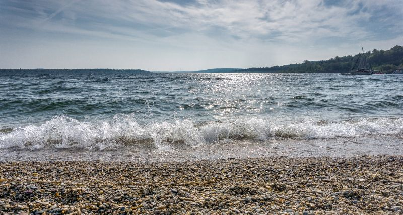 Wellen am Geiseltalsee