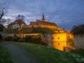 Burg in Querfurt bei Sonnenuntergang (Dezember 2016)